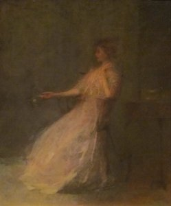 Lady with a Rose | Thomas W. Dewing